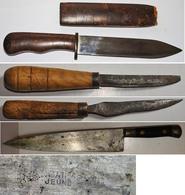 INTÉRESSANT ET BON LOT DE 4 COUTEAUX Anciens . - Knives/Swords