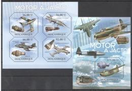 BC1112 2011 MOZAMBIQUE MOCAMBIQUE AVIATION MOTOR A JACTO 1KB+1BL MNH - Aerei