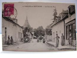 CPA 18 CHER FARGES EN SEPTAINE LA GRANDE RUE ANIMEE 209 - Francia