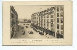 Paris Hôtel Cambon ( Au Format CPA ) - Pubs, Hotels, Restaurants