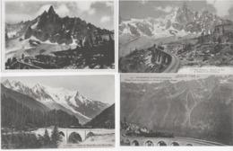 CHAMONIX - CHEMIN DE FER DU MONT BLANC - LOT DE 11 CARTES - VERS 1900 - Chamonix-Mont-Blanc