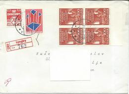 Denmark R - Lettre/Letter Lyngby Via Macedonia Yugoslavia 1976.nice Stamps Motive - Denmark
