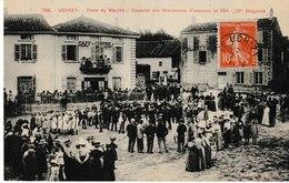 Saône Et Loire UCHIZY Place Du Marché Souvenir Des Manoeuvres D'automne En 1910 (17è Dragonds - Frankreich
