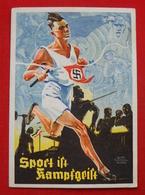 "Anlass-Karte ""Sport Ist Kampfgeist 1935"" , Gelaufen, RECHT SELTEN !! - Briefe U. Dokumente"