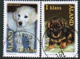 2001 Aland  M 195 - 6 Dogs Complete Used Set. - Aland