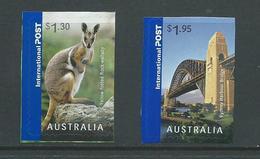 Australia 2007 $1.30 Wallaby & $1.95 Sydney Bridge Peel & Stick Singles MNH - Usados