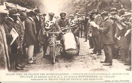 FONTAINEBLEAU (77) GRAND PRIX DE FRANCE DES MOTOCYCLETTES 22 Juin 1913 - DELAUNE Au Départ Sur B.S.A - Sport Moto