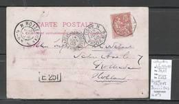 France -CP Ligne N Paq Fr No6 + Réunion à Marseille -Ligne LU No2 Pour Rotterdam - Pays Bas - Postmark Collection (Covers)