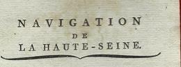 1815 PARIS JOURNALIER QUAI DE BETHUNE NAVIGATION DE LA HAUTE SEINE  COCHES / BUREAU DES VINS Chargé à Joigny Yonne - Documents Historiques