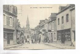 56 - GUER - Rue Saint-Gurval - Carte Animée - Francia