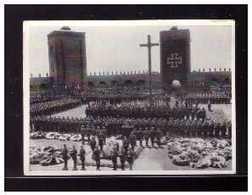 Dt-Reich (008577) Sammelbild, Hindenburg, Ergänzungsserie Bild 21, Die Nationale Trauerfeier - Sturm