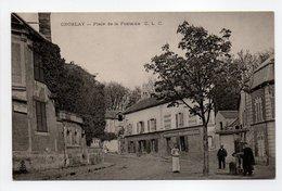 - CPA GROSLAY (95) - Place De La Fontaine (avec Personnages) - Edition C. L. C. - - Groslay