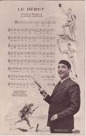 Carte Postale - Chanson Partition Le BERET  - Lucien Boyer - PERCHICOT - JOUEUR BASQUE - Célébrités
