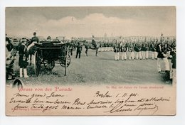 - CPA ALLEMAGNE - Gruss Von Der Parade 1901 - Se. Maj. Der Kaiser Die Parade Abnehmend (belle Animation) - - Germany