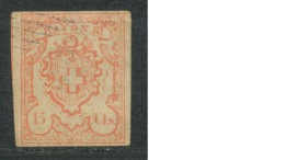 SUISSE - POSTES FEDERALES - RAYON III - 15 Cts. Rouge -- FAUX -- - 1843-1852 Federal & Cantonal Stamps