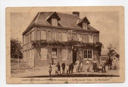 - CPA SAINT-GEORGES-SUR-FONTAINE (76) - Le Bureau De Tabac - La Boulangerie (belle Animation) - Editions Caron - - Francia