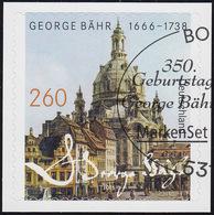 3224 George Bähr: Frauenkirche Dresden, Selbstklebend, Auf Neutraler Folie, EV-O - [7] Repubblica Federale