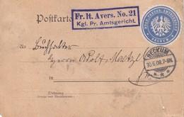 ALLEMAGNE 1908 LETTRE EN FRANCHISE DE BECKUM - Allemagne
