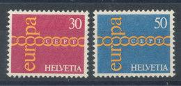 Suisse N°882 Et 883** Europa 1971 - Switzerland