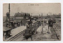 - CPA BUCHY (76) - La Gare 1910 (belle Animation Avec Train à Vapeur) - Edition Piolé N° 15 - - Buchy