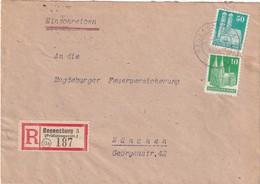 ALLEMAGNE 1948 ZONE ANGLO-AMERICAINE LETTRE RECOMMANDEE DE REGENSBURG AVEC CCHET ARRIVEE MÜNCHEN - American/British Zone