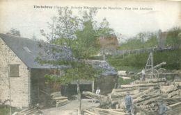 N°400 T -cpa Tinchebray -scierie Mécanique De Roullon- Vue Des Ateliers- - France
