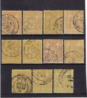 # Z.10890 France Republic 1877 - 80 Type II. 11 X Value 25 C. Bistre Yellow Used, Yvert 92, Michel 78: Pax & Mercur - 1876-1898 Sage (Tipo II)
