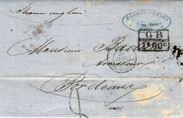 1862- Lettre De Port-au-Prince  Taxe 8 D Marque D'échange G B / 1f 60 C Pour Bordeaux - Hawaï