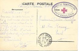 66-cachet Hôpital Temp De Rivesaltes Sur CP En 1914 - WW I