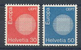Suisse N°855 Et 856** Europa 1970 - Switzerland