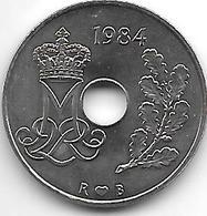 *denmark 25 Ore 1984 Km 861.3 Bu - Danimarca