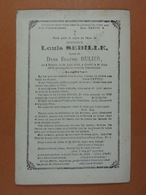 Louis Sebille épx Dulier Binche 1808 1876 - Devotieprenten