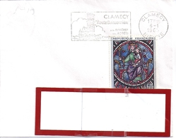 YT 1419  SSL FRANCE OBL FLAMME  CLAMECY  6/1/65 - 1961-....