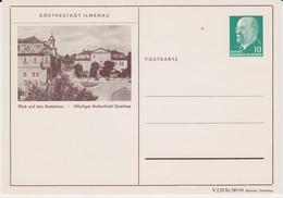 DDR Ulbricht Privatganzsache PP 8/3 Ilmenau Ungebr 1964 - Cartes Postales Privées - Neuves