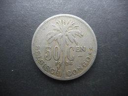Belgian Congo 50 Centimes 1924 - Belgisch-Kongo & Ruanda-Urundi