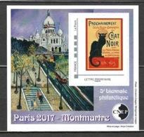 France - Bloc CNEP 2017 - N° 74 ** - 5 ème Biennale Philatélique De Paris - Chat Noir - Montmartre - - CNEP
