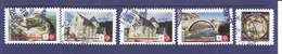 2019, Lot: 4 Timbres Patrimoine , 1 Timbre Assiette, Cachets Ronds - Francia
