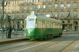Turin (Italie)  Tramway De Turin - 03/2012 -  Piazza Castello Ligne N°7 - Motrice N° 3104 De 1949  Restaurée En 2010 - Tramways