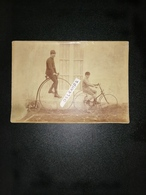 Photographie Ancienne Originale Bicycle Et Tricycle Vers 1900 - Cyclisme