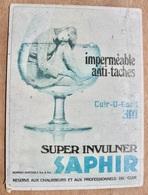 CARTON SUPER INVULNER SAPHIR BOMBES AEROSOLS RESERVE AUX CHAUSSEURS DU CUIR / PUBLICITE YL VACCARI ANNECY - Pappschilder