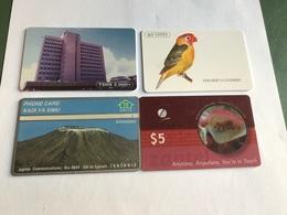 Tanzania - 4 Different Phonecards - Tanzania
