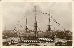 -ref C235- Bateaux De Guerre - Bateau H M S Victory - Portsmouth - Portmouth - Angleterre - U K - Marine Militaire - - Guerra