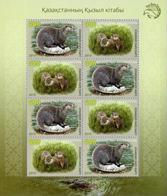 Kazakhstan 2019. River Otter. Full Sheet.NEW!!! - Kazakhstan