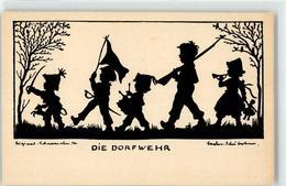 52685021 - Die Dorfwehr Kind Scherenschnitt - Autres Illustrateurs