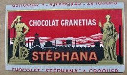 CARTON CHOCOLAT GRANETIAS A CROQUER STEPHANA ST ETIENNE - Pappschilder