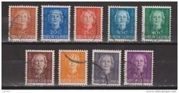 Nederlands Nieuw Guinea Dutch New Guinea 10 - 18 Used ; Koningin, Queen, Reine, Reina Juliana 1950-1952 - Netherlands New Guinea