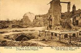 CPA - Belgique - Ieper - Ypres - 1919 - Ecole Moyenne - Ieper