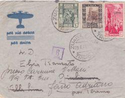1941 ZUARA CITTA'/TRIPOLI C2 (29.6) Su Busta Via Aerea Affr Libia - Libia