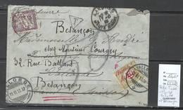 France - Lettre Taxée De  Langres Pour Vallorbe - Suisse Puis Besançon - TAXEE - 1913 - Postage Due