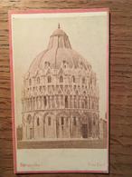 PHOTO (fotografia) Papier épais, VAN LINT, Lungarno , Pisa (Pise) -1861 Firenze 1862 Londra 1868 Pisa- Format 6,4 X 10,5 - Foto